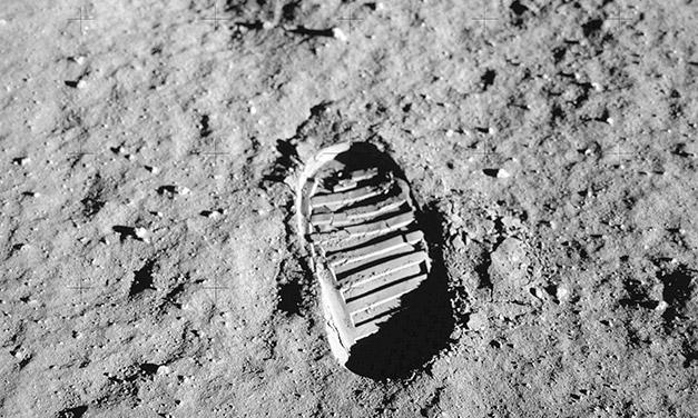 pisada hombre luna - fuente NASA