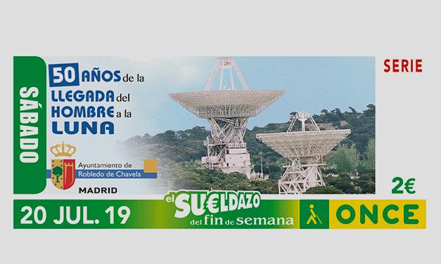 Presentación Cuponazo de la ONCE 50 Aniversario llegada hombre a la luna - Robledo de Chavela