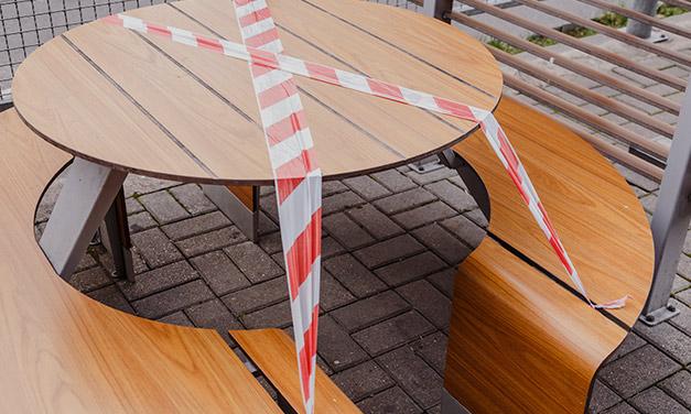 mesas parque cerradas