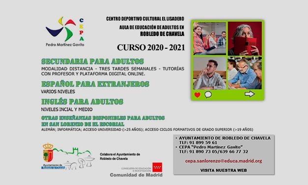cartel curso adultos 2020-2021