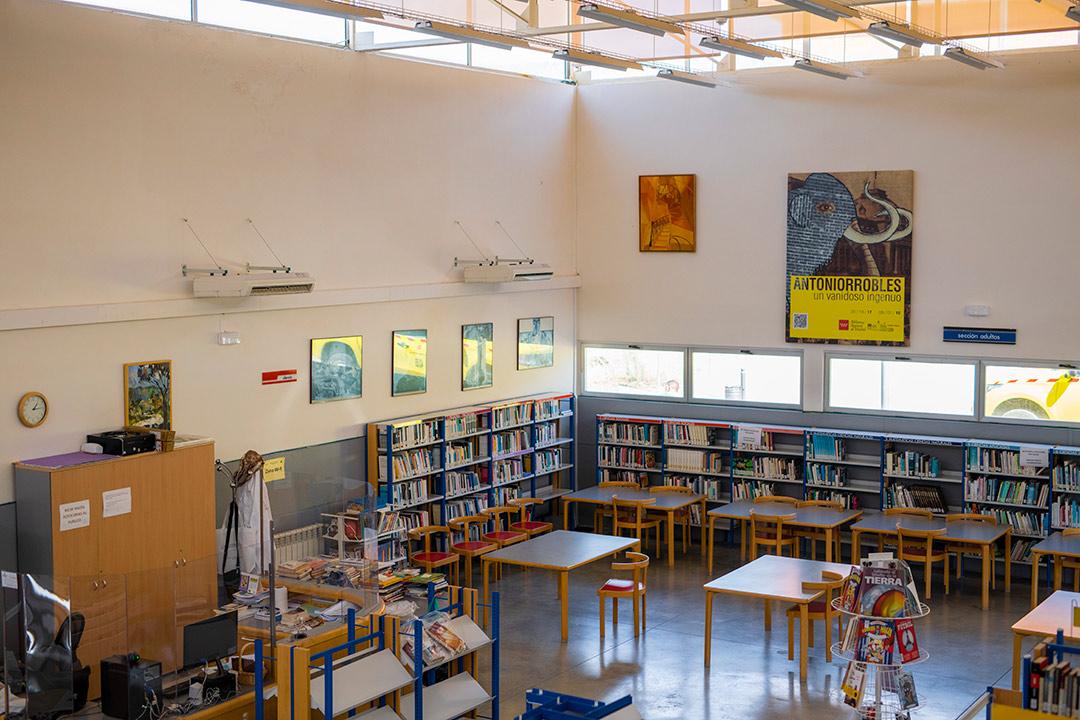 vista de la biblioteca municipal