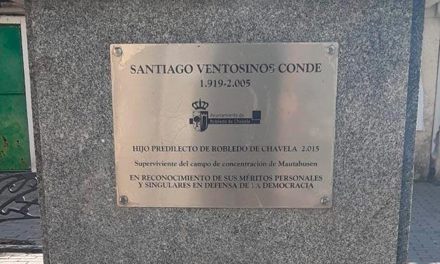 Placa homenaje a Santiago Ventosinos Conde