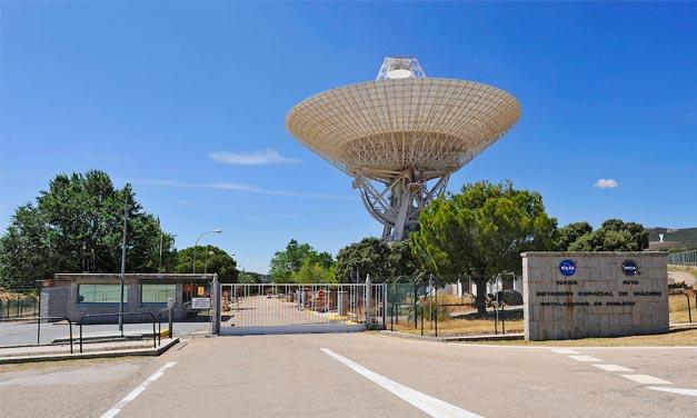 Entrada MDSCC NASA en Robledo