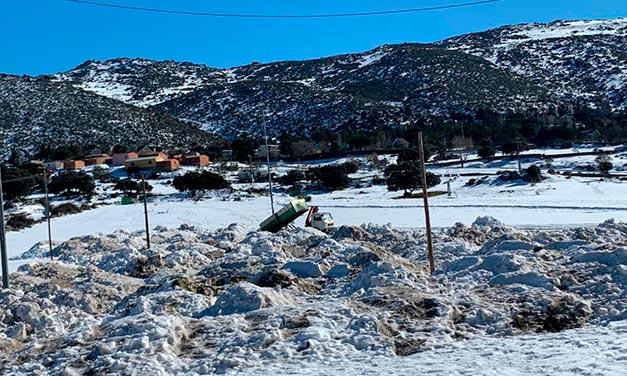 vista tras el temporal Filomena en Robledo