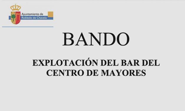 Explotación del Bar del Centro de Mayores