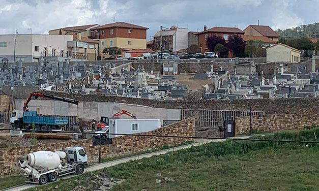 Inicio de obras en el cementerio de Robledo de Chavela