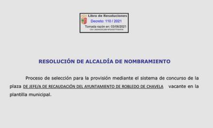 Resolución de Alcaldía – Jefe de recaudación