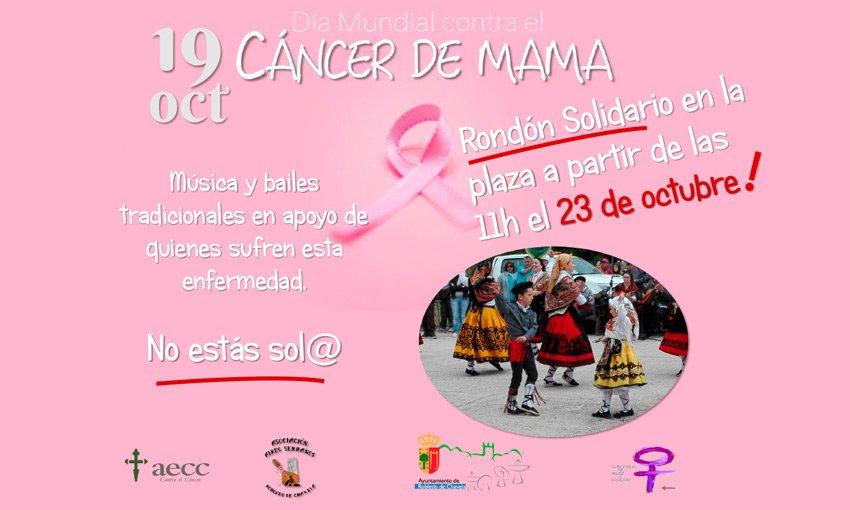 Programación eventos celebración Día Internacional del Cancer de Mama en Robledo de Chavela